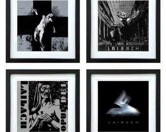 Laibach - Framed Album Art - Set of 4 Images