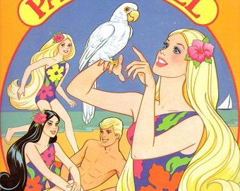 Vintage Barbie Paper Dolls Tropical Barbie Uncut//Golden Books Paper Dolls//Vintage Barbie Clothes//90s Toys