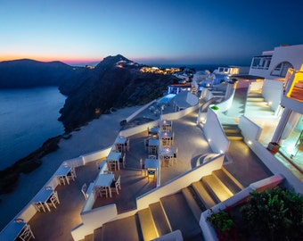 Oia Twilight, Santorini Photography