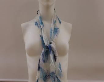 Polka Dot Scarf (White/Blue)