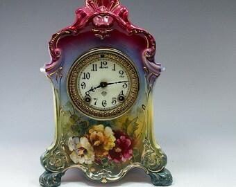 Porcelain Clock Etsy
