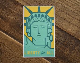 Liberty for All Sticker Anti-Trump Sticker ACLU