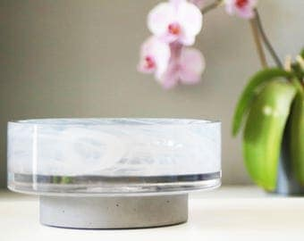 Designer bowl on concrete base - VERY LIMITED EDITION!