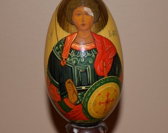 Hand Painted Russian Wood Egg