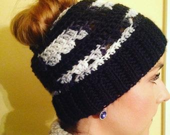 Crochet Messy-bun Hat Pattern