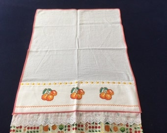 Kitchen Towel with Orange Design