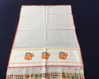 Kitchen Towel with Orange Design