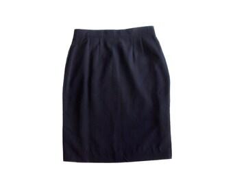 Vintage Catherina Hepfer women skirt navy blue Trevira ® Made in West Germany size 36