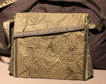 Embroidered silk handbag, evening bag