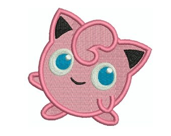 POKEMON JigglyPuff - Machine Filled Embroidery - 3 Sizes - Instant Digital Download
