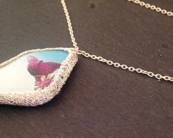 Butterfly in Silver necklace
