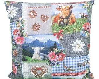 Pillow square Bavarian Alpine romance