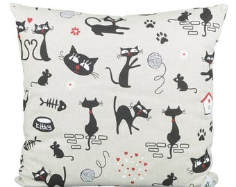 Pillow square cats Kitty allover