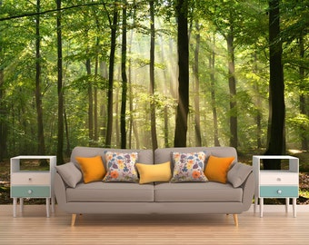 Tree Wall Covering, Forest Wall Covering, Tree Wallpaper, Tree Wall Mural, Forest Wall Mural, Forest Wallpaper,   Nature Wall Mural, Forest