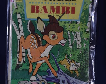 Bambi Walt Disney Showcase vintage 1950's comic book