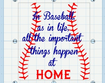 In baseball, as in life, the important things happen at home! SVG