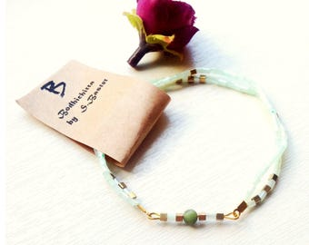 Bracelet 3/2 in 1 by beads and bugles
