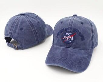 Blue suede nasa  i need my space baseball cap