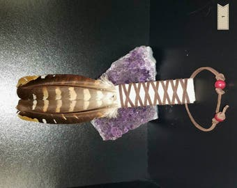 Sage Smudging Wafting Feather Wand