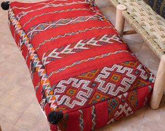 kilim pouf pillow,moroccan double pouf,floor pouf,floor pillow,XXL pouf,pouf ottoman,berber pillow,vintage pouf cover,moroccan decor