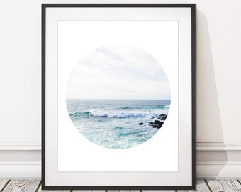 Beach Photographic Print | Printable Beach Seascape Photography Print | Beach Wall Art Print Digital Download Landscape | INSTANT DOWNLOAD