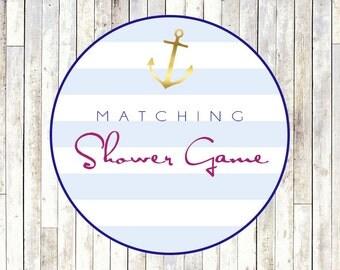 Matching Shower Game Card - Printable DIY