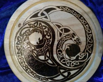 Norse serpents yin yang serving/cheese board
