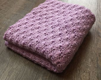 Purple Baby Blanket - Crochet