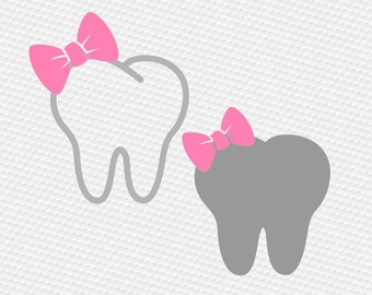 Dentist Tooth svh, Tooth svg, Tooth Silhouette, Teeth svg, Tooth Fairy svg, Dental svg, Cricut, Cameo, Cut file, Clipart, Svg, DXF, Png, Eps