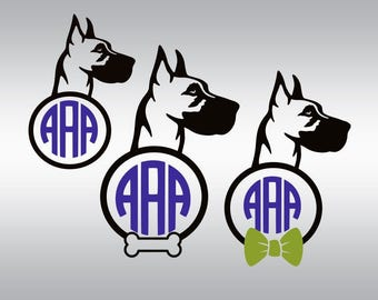 Dog svg file, Great dane svg, Great dane silhouette, Dogs svg, Dog breed svg File, Cricut, Cameo, Cut file, Clipart, Svg, DXF, Png, Pdf, Eps