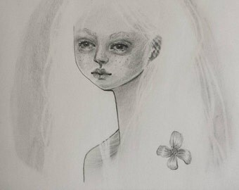 Lowbrow Girl - Original Artwork   Popsurrealism Drawing