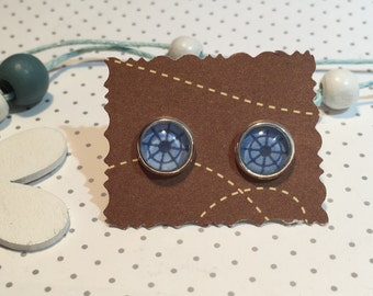 Maritim earrings cabochon steering wheel armature
