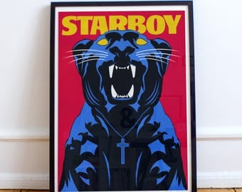 Starboy Panther Poster - The Weeknd ( A4, A3, A2, A1)