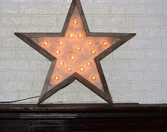 Barn Wood Star Light Barnwood Star Marquee Wooden Star With Lights Wedding Decor Baby Decor Special Events Parties