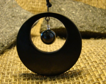 "Shungite pendant ""circle in a circle in the bead"" of Karelia mascot."