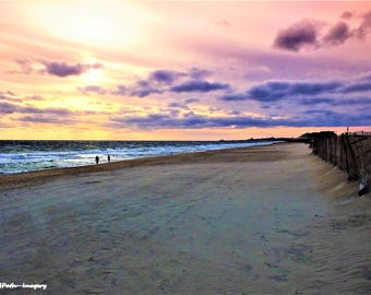 The last sunset at Misquamicut State Beach, Westerly Rhode Island.