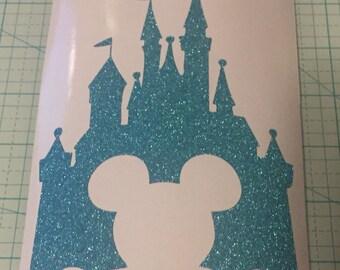 Glitter Disney Castle Vinyl Decal