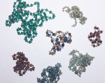 Lot of Gemstone chain lengths