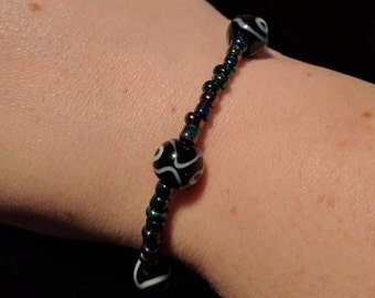 Black stretchy bracelet