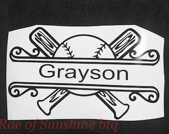 Personalized baseball decal , baseball car decal , personalized decal , personalized car decal , car decal , sports mom
