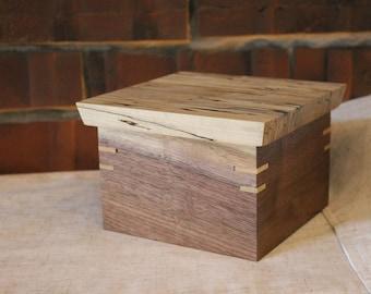 Black Walnut and Spalted Maple Keepsake Box