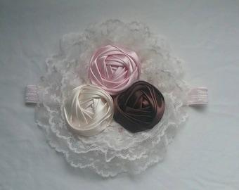 Neapolitan Flower headband