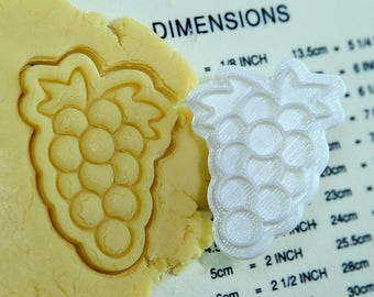 Grape Cookie Cutter and Stamp