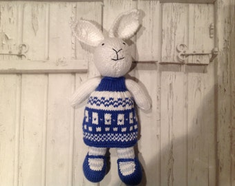 Hand made knitted bunny rabbit