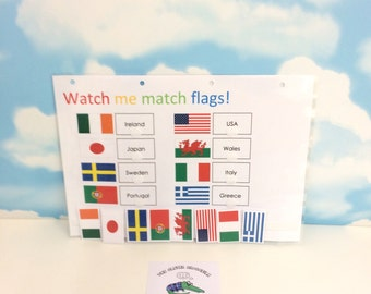 Country flags, World flags, Countries of the world, matching game, Visual learner, Teaching resource, Interactive learning, KS1
