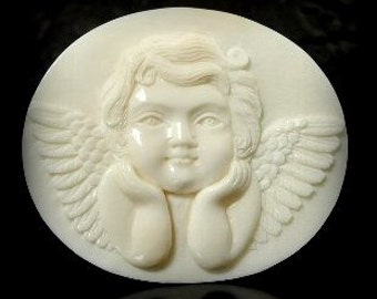 Cupid Pendant from carved bone (free Shipping)