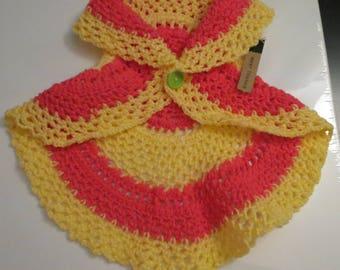 Toddler Mandala Vest - Yellow & Pink