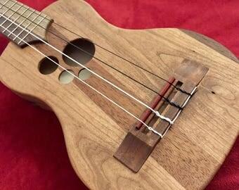 Reclaimed Cherry/Sapele, Custom Ukulele — Long-neck Soprano/Concert size