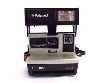 Vintage Polaroid Sun 600 LMS Film Instant Camera Near Mint TESTED