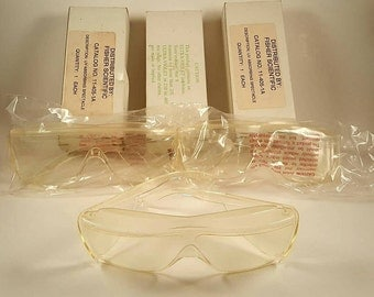 Vintage Fisher Scientific UV Blocking Safety Glass Lot